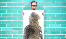 Chewbacca Star Wars Starwars Art Work - Wall Art Print Poster Pick A Size -  Movie Art Geekery